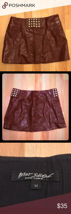 3f595b303c6 Betsy Johnson Mad Max Mini Totally hot pleather mini with studs on front  and back.
