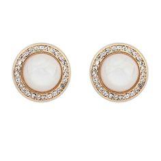 92df76305a8 Wholesale Classic all-match delicate rhinestone round ear studs ( beige )