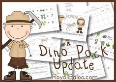 Dinosaur K-2nd Packs