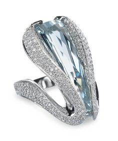 Extraordinary Aquamarine Ring - Mark Schneider Design