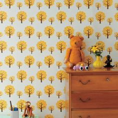 Ferm Living's Dotty Wallpaper is great for a children's bedroom. Available at Heal's