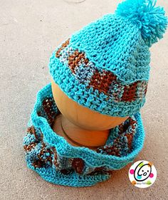 Hayden Valley Beanie and Cowl #crochet #pattern by Snappy Tots