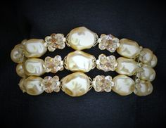 Vintage Pearl Bracelet Multi Strand by HeidisTreasureChest on Etsy