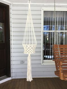 Large Basket Macrame Hanger, Off White 6 Mm Polyolefin Cord, Fruit Basket,  Classic Style Plant Holder, Large Plant Hanger, Bridal Shower