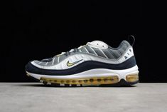 81fcf58448 Authentic Mens Nike Air Max 98 OG Tour Yellow 640744-105 - Nawomenshoes