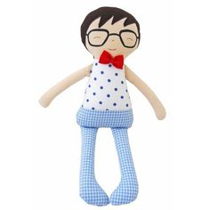 How awesome is new Ted from Alimrose!? Perfect for baby boys, he's soft and perfect for cuddling. Shake him and he rattles. The perfect baby shower or newborn gift. Suitable from birth. Measures 27cm tall. Just too cute! Don't miss the coordinating squeaker and grab rattle.