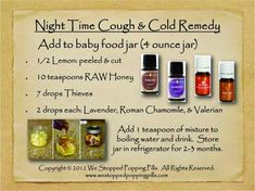 And for night time coughs, give this a try. You could also diffuse R.C. to help with breathing. https://www.facebook.com/EssentialOilsForFamilyandFarm