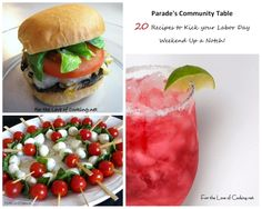 Parade's Community Table ~ 20 Recipes to Kick your Labor Day Weekend Up a Notch!