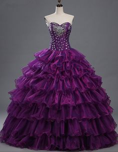 Cheap ball gown quinceanera, Buy Quality gowns quinceanera directly from China ball gowns quinceanera dresses Suppliers: QM Real Picture Purple Ball Gown Quinceanera Dresses 2017 Crystal Puffy Sweet 16 Dress vestido debutante 15 anos cinderella Cute Prom Dresses, Sweet 16 Dresses, Pretty Dresses, Homecoming Dresses, Beautiful Dresses, Wedding Dresses, Colorful Prom Dresses, Gown Wedding, Diy Wedding