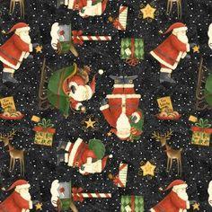 Santa's Big Night Fabric Santa Toss Debbie Mumm  67557-971