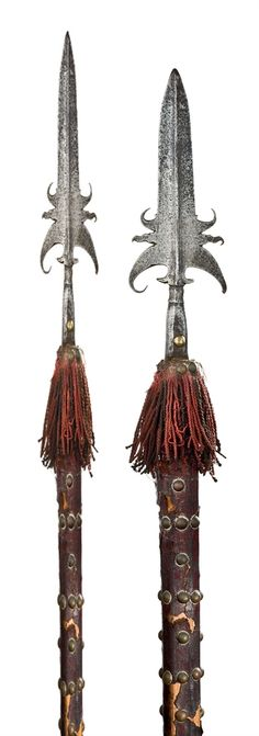 Two German military partizans. Late 17th early 18th century.