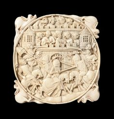 Ivory Mirror Back with Scenes of Jousting1320-50 (French, Paris, 14th century) Virginia Museum of Fine Arts
