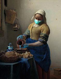 The milk girl 🆚 Collages, Collage Art, Modern Art, Contemporary Art, Collections Of Objects, Art Folder, Art Station, Renaissance Art, Cultura Pop