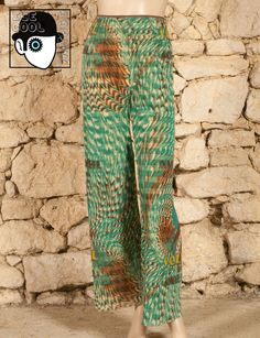 ' JEAN'S PAUL GAULTIER - SOLEIL' PRINT TROUSERS - SMALL - UK 8 or 10 - (Z) #JeanPaulGaultier