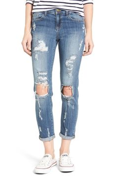SP Black Decon Destroyed Boyfriend Jeans available at #Nordstrom