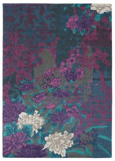 one kings lane exotic brights tanan rug teal purple for the home pinterest ties one. Black Bedroom Furniture Sets. Home Design Ideas