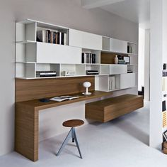 Home Office Designs - Home offices are now a norm to modern homes. Here are some brilliant home office design ideas to help you get started. Home Office Design, Home Office Decor, Office Ideas, Office Designs, Office Style, Home Office Furniture, Furniture Design, Furniture Plans, Kids Furniture