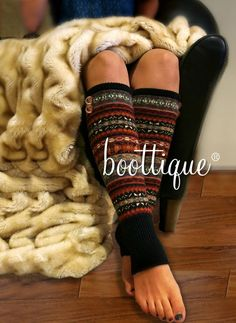 Step into the coziest leg warmers with an alpine flair. Reminiscent of your favorite Norwegian sweater! Wool blend leg warmers are the ultimate in