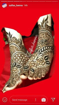 Henna Design By Fatima Khafif Mehndi Design, Floral Henna Designs, Mehndi Designs Feet, Latest Bridal Mehndi Designs, Henna Art Designs, Mehndi Designs 2018, Mehndi Design Pictures, Mehndi Designs For Girls, Wedding Mehndi Designs
