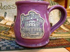 BEDFORD INN B & B Cape May New Jersey Stoneware Purple Mug 8 oz.  EUC