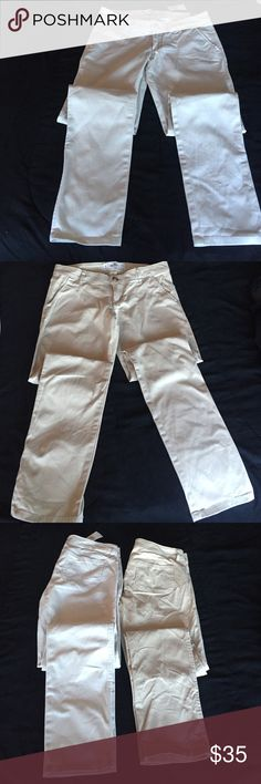 Hollister Pants Bundle 2 pairs brand new. Took off tag off the darker color pants because I thought It would fit. One still has tag on it. Size 1R w25 L31 Hollister Pants Straight Leg