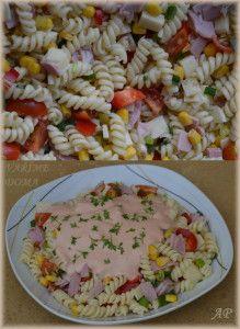 Těstovinový salát se zálivkou