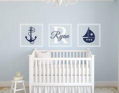 Custom Nautical Sail Boat Boy Name Wall Decal - Nautical Decor - Nursery Wall Decals - Whale Wall Decal - Vinyl Baby Nursery Decor Lovely Decals World LLC http://www.amazon.com/dp/B00U23Y1HS/ref=cm_sw_r_pi_dp_Mrmzvb1AMJR0R