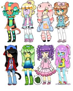 Adopts || Monster Girl Challenge 3 by Tenshilove on DeviantArt