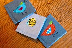 easy little handmade books for Advent Calendar pockets