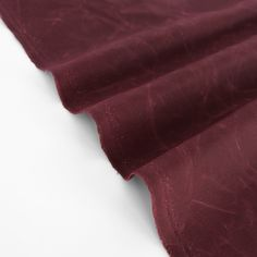 Waxed Cotton Canvas - Burgundy | Blackbird Fabrics Waxed Canvas, Cotton Canvas, Fabric Swatches, Burgundy, Blackbird, Fabrics, Age, Woven Fabric, Sewing Projects