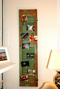 Re-purposed old shutter