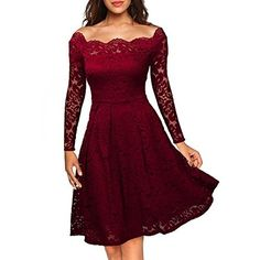 CuteShe Women's Short Lace Homecoming Prom Dresses with Long Sleeves
