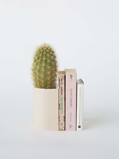 Is it a bookend? Is it a planter? Handmade in New Zealand by ceramicist Gidon Bing, the Bookend Planter comes in two colors, a blush salmon-y pink, and a delightful pale eggshell. Handmade Home Decor, Diy Home Decor, Egg Shells, Humble Abode, Decorative Objects, Architecture Art, Bookends, Cool Designs, Planters