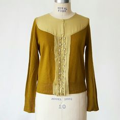 """J. Crew Dream Chiffon and Crystalline Cardigan J. Crew Dream Chiffon and Crystalline Cardigan  55% wool 30% nylon 15% cashmere Collar and placket 100% silk Great condition, no pilling. Color is closest to my photos, the model pics are a bit too """"green"""". Poshmark transactions only, open to offers! J. Crew Sweaters Cardigans"""