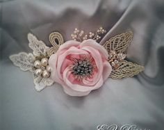 Vintage hair accessories. Decorative Applique . Light pink flowers. by ezdessin. Explore more products on http://ezdessin.etsy.com