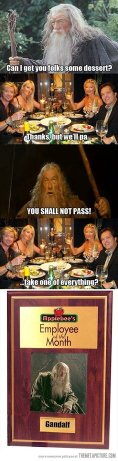 Gandalf gets a job…@Chels Whitt @Chrystal Parvin