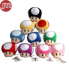 Find More Movies & TV Information about New Super Mario Toad Mushroom Plush Dolls Anime Game Peluche Toy 9cm Baby Kids Gift Collection Wedding Decoration 10 Colors,High Quality doll bikini,China doll cake Suppliers, Cheap doll stand from M&J Toys Global Trading Co.,Ltd on Aliexpress.com