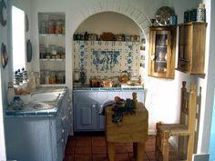 """Southwestern kitchen"" miniature room box"