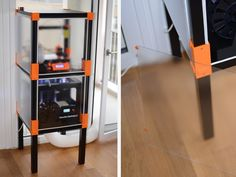 printer design printer projects printer diy Design and Detail Design and Detail A Thingiverse Collection named: Prusa Anet Upgrades . Big 3d Printer, Printer Desk, Printer Storage, 3d Printer Designs, 3d Printer Projects, Arduino, Ikea Lack Table, 3d Printing Business, Prusa I3