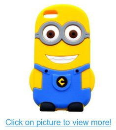 T$J Exclusives® Despicable Me 3D Silicone Case Cover for iPhone 4 / 4S (2 eye blue)