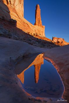 ~ Reflection ~ Courthouse Towers, Arches National Park....Utah....Ian Parker....