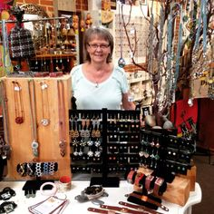Even more displays happening with our current display #queen Susan! Stop by to check out this fantastic new #jewelry display you might find pieces you've never seen before! #fairtrade #fairtradefashion #delmar #delmarva #sandiego