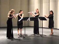 Con Brio Flute Quartet performs Quatour pour flutes, Mvt. I