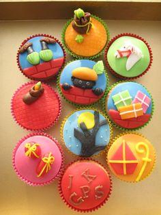 Een vrolijke variatie aan cupcakes voor pakjesavond.