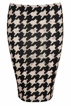 Check skirt, pen shape