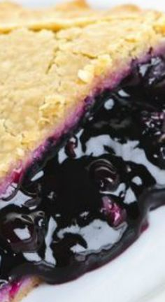 Blueberry Pie Recipe ~ From scratch... It smell amazing when it is baking and is wonderful on its own or served with a scoop of vanilla ice cream.