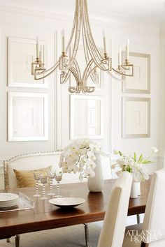 Dining Room Chandelier #Diningroom #Chandelier #lighting  Design by Fred Mozzo.