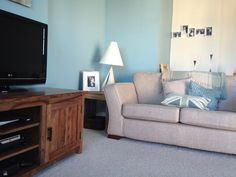 Duck egg blue Living room