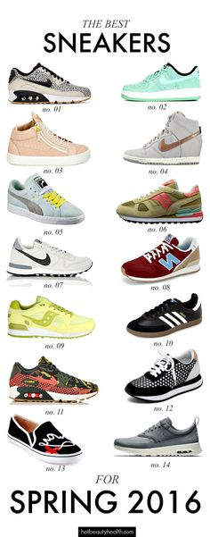 Spring fashion: Sneakers come in a variety of colors and styles this spring. Check out our list of the best sneakers for spring 2016! Does your favorite make the list?