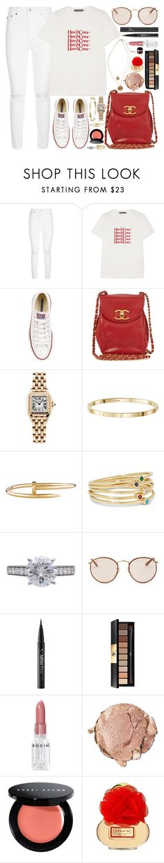 """""""I can take it if you want"""" by carolsposito ❤ liked on Polyvore featuring AG Adriano Goldschmied, AlexaChung, Converse, Chanel, Cartier, Jennifer Meyer Jewelry, Kenneth Cole, Ray-Ban, Christian Dior and Kat Von D"""
